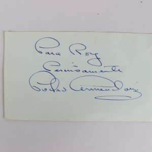 From Russia With Love - Pedro Armendariz Signed 3x5 Cut Album Page (JSA Full LOA)
