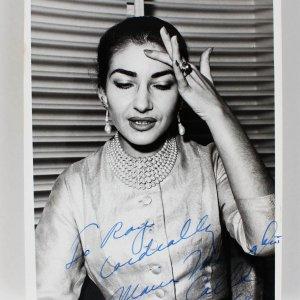 Maria Callas Signed & Inscribed Original B & W Photo