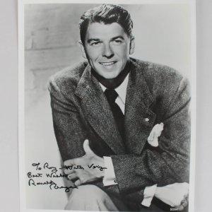 President Ronald Reagan Signed & Inscribed 8x10 Sepia Photo (JSA Full LOA)