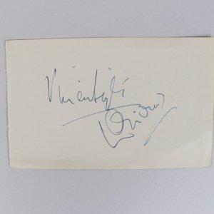 Laurence Olivier & Vivien Leigh Signed 4x6 Vintage Cut (JSA Full LOA)