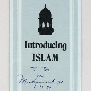 "Muhammad Ali Signed & Dated ""Introducing Islam"" Pamphlet (JSA Full LOA)"