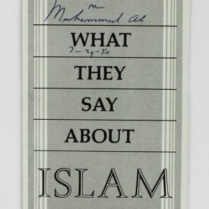 """Muhammad Ali Signed """"What Do They Say About Islam"""" Pamphlet (JSA Full LOA)"""