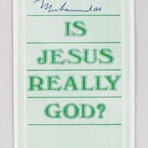 "Muhammad Ali Signed ""Is Jesus Really GOD?"" Pamphlet (JSA Full LOA)"