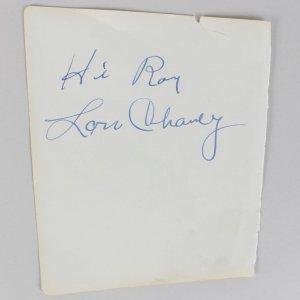 Actors - Lon Chaney & Gary Cooper Signed 5x6 Vintage Cut (JSA Full LOA)