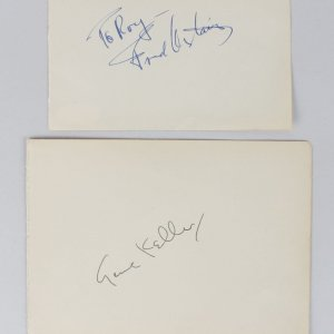 Fred Astaire & Gene Kelly Signed Vintage Album Page Cuts (JSA COA)