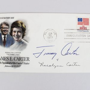 President Jimmy & First Lady Rosalynn Carter Signed FDC Cachet (JSA COA)