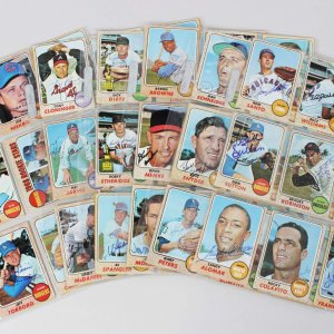 1968 Topps Baseball Signed Card Lot (99) - Brooks Robinson, Sandy Alomar, Don Sutton