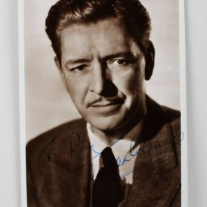 A Double Life - Ronald Colman Signed 3x5 Picture Post Card (JSA COA)