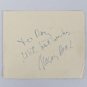 To Kill a Mockingbird - Gregory Peck Signed & Inscribed 5x6 Cut (JSA COA)