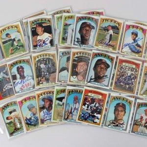 1972 Topps Baseball Signed Card Lot (99) - Al Kaline, Steve Garvey, Sandy Alomar etc.