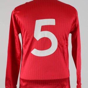 Mid-1980s England National Team Match-Worn #5 Jersey Shirt