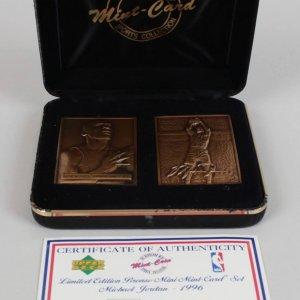 1996 Chicago Bulls - Michael Jordan LE Bronze Mini Mint Card Set 1122/5000