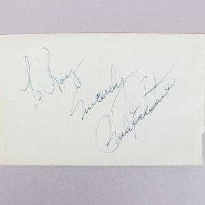 Mr. B - Billy Eckstine Signed & Inscribed 4x6 Vintage Cut (JSA COA)