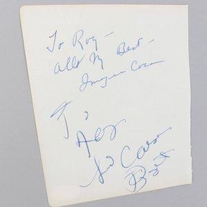 Imogene Coca, Sid Caesar & Juanita Hall Signed 5x6 Vintage Cut (JSA COA)