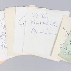 Male Academy Award Winners Signed Lot (7) Vintage Cuts (JSA)