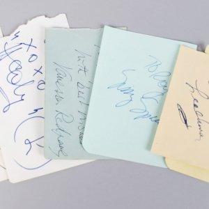 Female Academy Award Winners Signed Lot (6) Vintage Cuts (JSA)