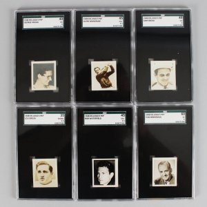 1948 Kelloggs Pep Star Sports Stars Graded Cards - (6) Lot Bob Waterfield, Sam Snead, George Mikan, Lou Groza etc.