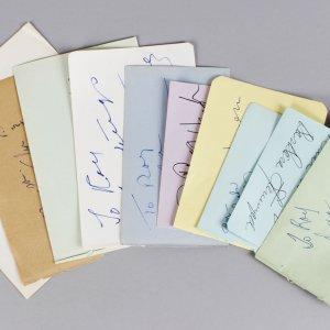 Golden Age Actress Signed Lot (10) Vintage Album Page Cuts (JSA)
