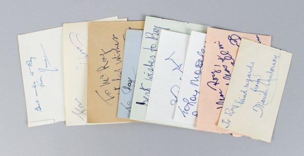 Opera & Stage Singers Signed Lot (11) Vintage Album Page Cuts (JSA)