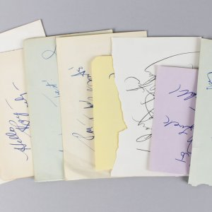 Musician & Singer Signed Lot (8) Vintage Album Page Cut (JSA)