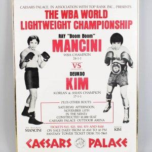 November 13, 1982 - Ray Boom Boom Mancini vs. Deukoo Kim On-Site Fight Poster