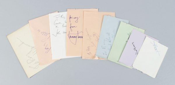 Producers & Directors Signed Lot (9) Vintage Album Page Cuts (JSA)