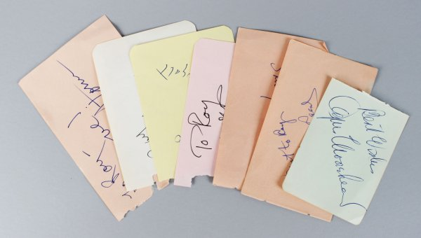 1950-60's Actress TV Star's Signed Lot (7) Vintage Album Page Cuts (JSA)