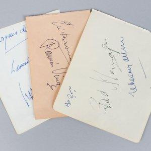 Opera Singer's & Ballet Dancer's Signed Lot (8) Vintage Album Page Cuts (JSA)