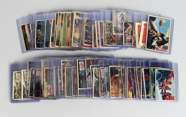 Mega 1930s-50s Non Sport Trading 74 Card Lot - G-Men, T.V. & Radio Stars, Scoops, Presidents, War, Sky Birds, Wheaties etc.
