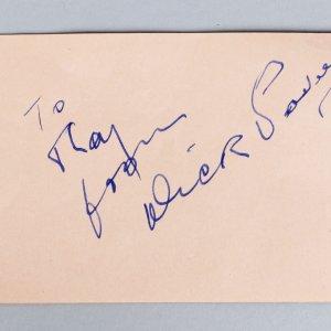 Naughty but Nice - Dick Powell Signed 3x5 Vintage Cut (JSA Full LOA)