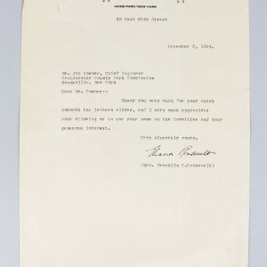 Dec. 3, 1924 - First Lady - Eleanor Roosevelt Signed Typed Letter (JSA)