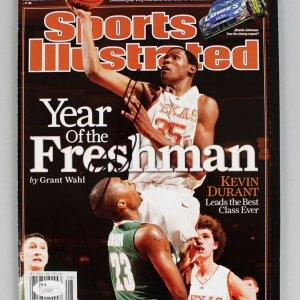 Kevin Durant Signed Full Sports Illustrated (SI) Feb 19, 2007 -Texas (JSA COA)
