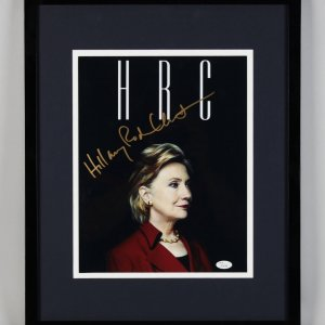 "Hillary Clinton Signed Black ""HRC"" 11x14 Photo Display (JSA Full LOA)"