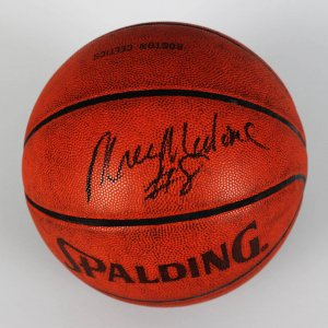 76ers - Moses Malone Game-Used, Signed Official Basketball (JSA)