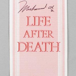 """Muhammad Ali Signed """"Life After Death"""" Pamphlet (JSA Full LOA)"""
