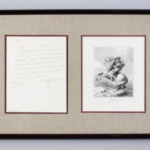 March 10, 1812 - Emperor Napoleon Bonaparte Signed Letter 15x23 Display (JSA Full LOA)