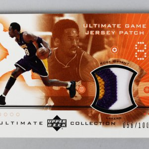 2002-03 Ultimate Collection - Lakers - Kobe Bryant Patch Game-Used Jersey Card 58/100