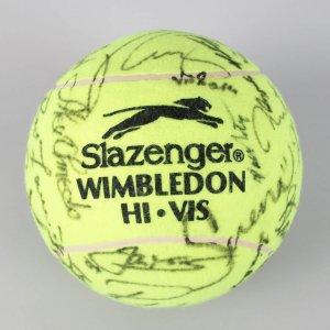 Slazenger Wimbledon Multi-Signed Oversized Tennis Ball 20 + Venus, Agassi, McEnroe, Graf