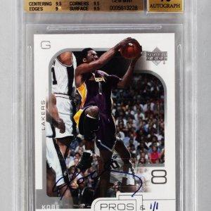 2002-2003 Kobe Bryant Upper Deck Buyback 1 of 1 Card Beckett 9.5
