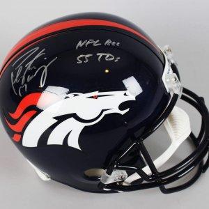 Denver Broncos - Peyton Manning Signed & Inscribed Replica Helmet (COA)
