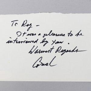 A Song To Remember - Cornel Wilde Signed & Inscribed 4x6 Cut- COA JSA