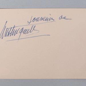 French Actress - Mistinguett Signed 4x6 Vintage Album Page Cut- COA JSA