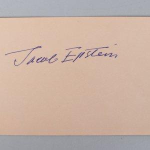 Sculptor - Sir Jacob Epstein Signed 4x6 Vintage Album Page Cut- COA JSA