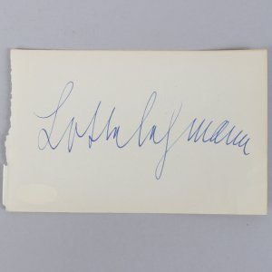 From Russia with Love - Lotte Lenya Signed 4x6 Vintage Cut- COA JSA
