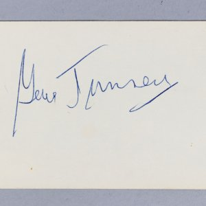 1926-28 World Heavyweight Champion Gene Tunney Signed 3x5 Index Card- COA JSA