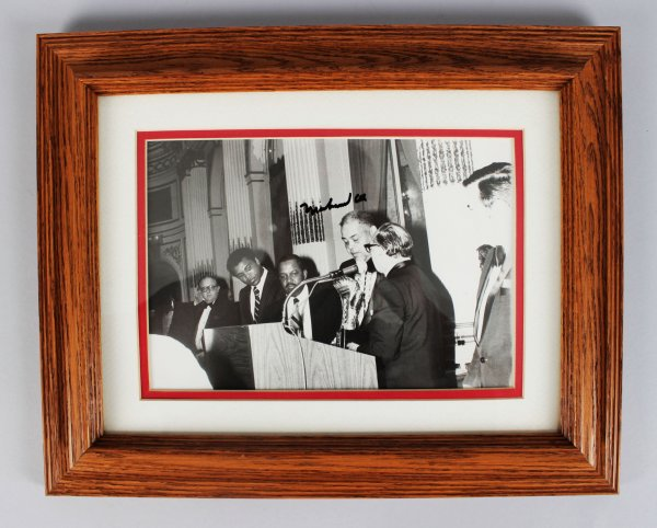 The Greatest of All Time! - Muhammad Ali Signed 8x10 Wire Photo- JSA Full LOA