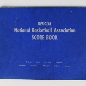 1955-56 Philadelphia Warriors Championship Official NBA Scorebook sourced from Official Scorekeeper Dave Richter!