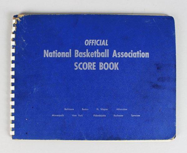 RARE 1957-58 Philadelphia Warriors Official NBA Scorebook sourced from Official Scorekeeper Dave Richter!!!!