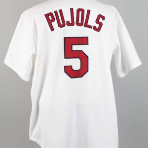 2001 St. Louis Cardinals - Albert Pujols Game-Issued (Home) Jersey (Rookie)
