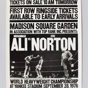 16 1/2 x 26 Ali vs Norton Madison Square Garden The New Times At Yankee Stadium Sep 28 1976